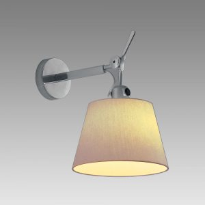 Tolomeo 7 Wall Parchment (diffuser)polished Aluminum (body & Canopy)