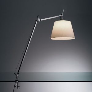 Tolomeo Mega Table With Clamp Parchment (diffuser)aluminum (body & Clamp)
