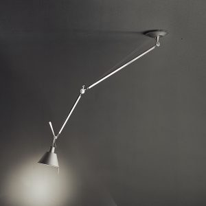 Tolomeo Off-center Suspension Aluminum (diffuser)polished Aluminum (body)matte Aluminum (canopy)