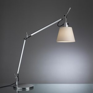 Tolomeo With Shade Table With Base Parchment (diffuser)aluminum (body & Base)