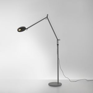 DEMETRA LED 9.2W 30K MP-MV GREY W/DIM W/FLOOR SUPPORT